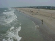 Kure beach south from Kure pier